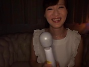 Misaki Kohanai enjoying a session with toys