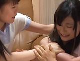 Milf Kitano Nozomi in a threesome facials fun