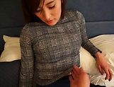 Alluring Asian milf shows her prowess in handling cocks