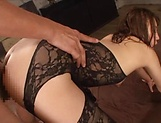 Darling has her fanny stretched in a group action