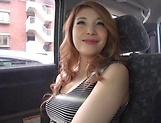 Japanese wife ready for some naughty sex in the car picture 10