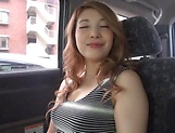 Japanese wife ready for some naughty sex in the car picture 11