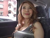 Japanese wife ready for some naughty sex in the car picture 9