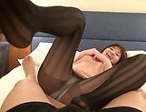 Beautiful Asian mature in a raunchy blowjob scene indoors picture 7