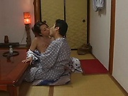 Very hot Japanese babe enjoys a worthy shag