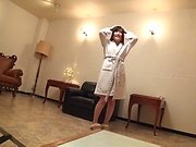 Sassy legal age cuite Kitano Nozomi enjoying herself
