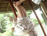 Curvy brunette Nagasawa Azusa gets nasty outdoors picture 9