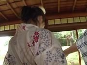 Curvy brunette Nagasawa Azusa gets nasty outdoors