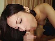 Mochizuki Yuna moaning as she takes a huge dick doggy