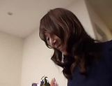 Mature Reiko Sawamura gives steamy blowjob picture 1