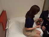 Mature Reiko Sawamura gives steamy blowjob picture 3