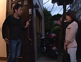 Sweet Asou Chiharu gets toyed by an old stud