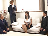 Lusty beauty Kobayakawa Reiko drilled in a foursome picture 6