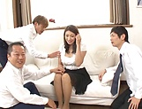 Lusty beauty Kobayakawa Reiko drilled in a foursome picture 9