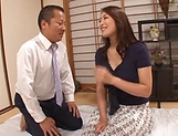 Kobayakawa Reiko looks dashing with cock inside her