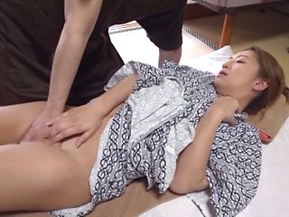 Big tits Asian mature gets her wet gaping cunt drilled
