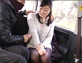 Alluring Asian mature in raunchy toy session outdoors picture 14