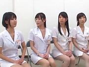 Sweet nurse pleasures multiple dicks