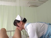 Egami Shiho sucks a cock dry of its juices