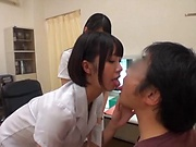 Yummy nurse featured in a lovely pov scene