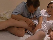Sex starved nurse enjoys some kinky ward sex