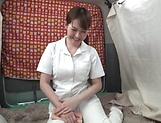 Half naked nurse enjoys solo masturbation at work picture 13