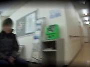 Beautiful Asian nurses in kinky hand job scene indoors