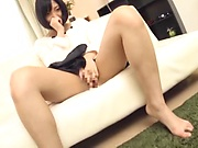 Raunchy blowjob session involving hot Asian beauty