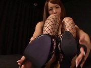 Hardcore fisting session involving hot Asian beauty