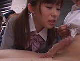Kinky Japanese schoolgirl loves deep kinky fingering picture 14