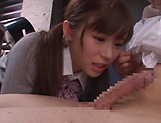 Kinky Japanese schoolgirl loves deep kinky fingering picture 15