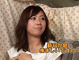 Naughty amateur Asian Hoshino Hibiki gives blowjob picture 3