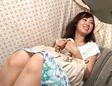 Naughty amateur Asian Hoshino Hibiki gives blowjob picture 7