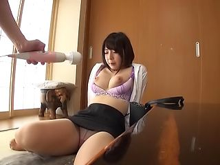 Amazingly hot office lady in kinky toy session indoors