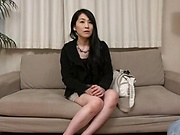 Cute Asian milf creampied as she uses sex toys sand cock