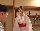 Hot Japanese lady Saki Hatsumi gives sensational handjob picture 11