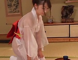 Hot Japanese lady Saki Hatsumi gives sensational handjob picture 13