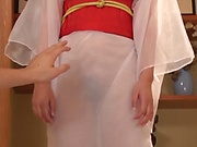 Hot Japanese lady Saki Hatsumi gives sensational handjob