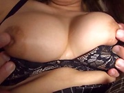 Busty honey gets her juicy gaping muff filled with jizz