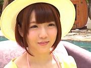 Horny model Sakura Kizuna  with tiny tits drilled hard
