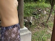 Mature Japanese housekeeper goes nasty outdoors