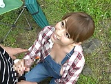 Amazing Asian minx moans and gasps in outdoor porn picture 11