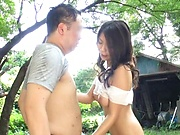 Top outdoor Asian porn with busty Yuuki Hodaka