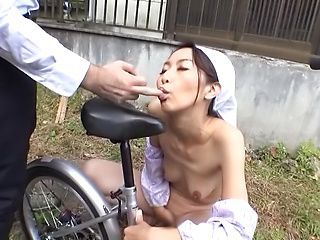 Foxy naked housekeeper intense pussy delighting