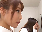 Ayami Shunka enjoys the taste of a stiff cock