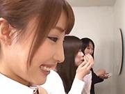 Sexy babe Ayami Shunka giving some superb head