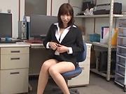 Hardcore lady enjoys office sex with boss