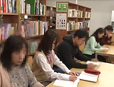 Japanese schoolgirl gets into hard cock