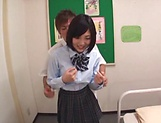 Hardcore schoolgirl Umi Hirose creampied by hunk picture 11