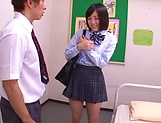Hardcore schoolgirl Umi Hirose creampied by hunk picture 6